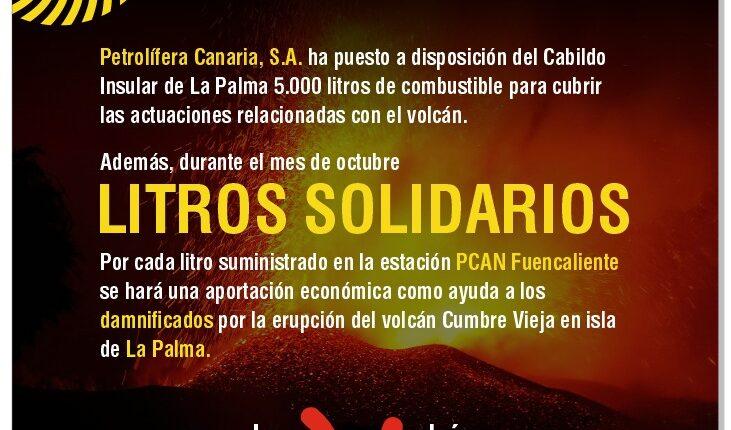 Petrolífera de Canarias y la estación PCAN Fuencaliente colaboran con La Palma